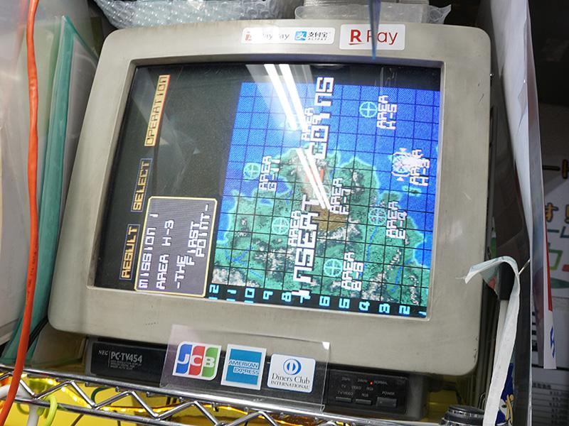 ゲーム画面。CRTモニターの都合で横向きですが、実際のゲームは縦画面です