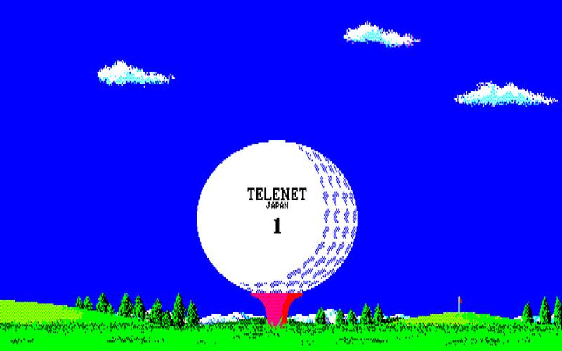 パッケージイラストとほぼ同じタイトル画面(左)ですが、ボールが打たれて飛んでいくという展開の後にタイトルが描画されます(右)