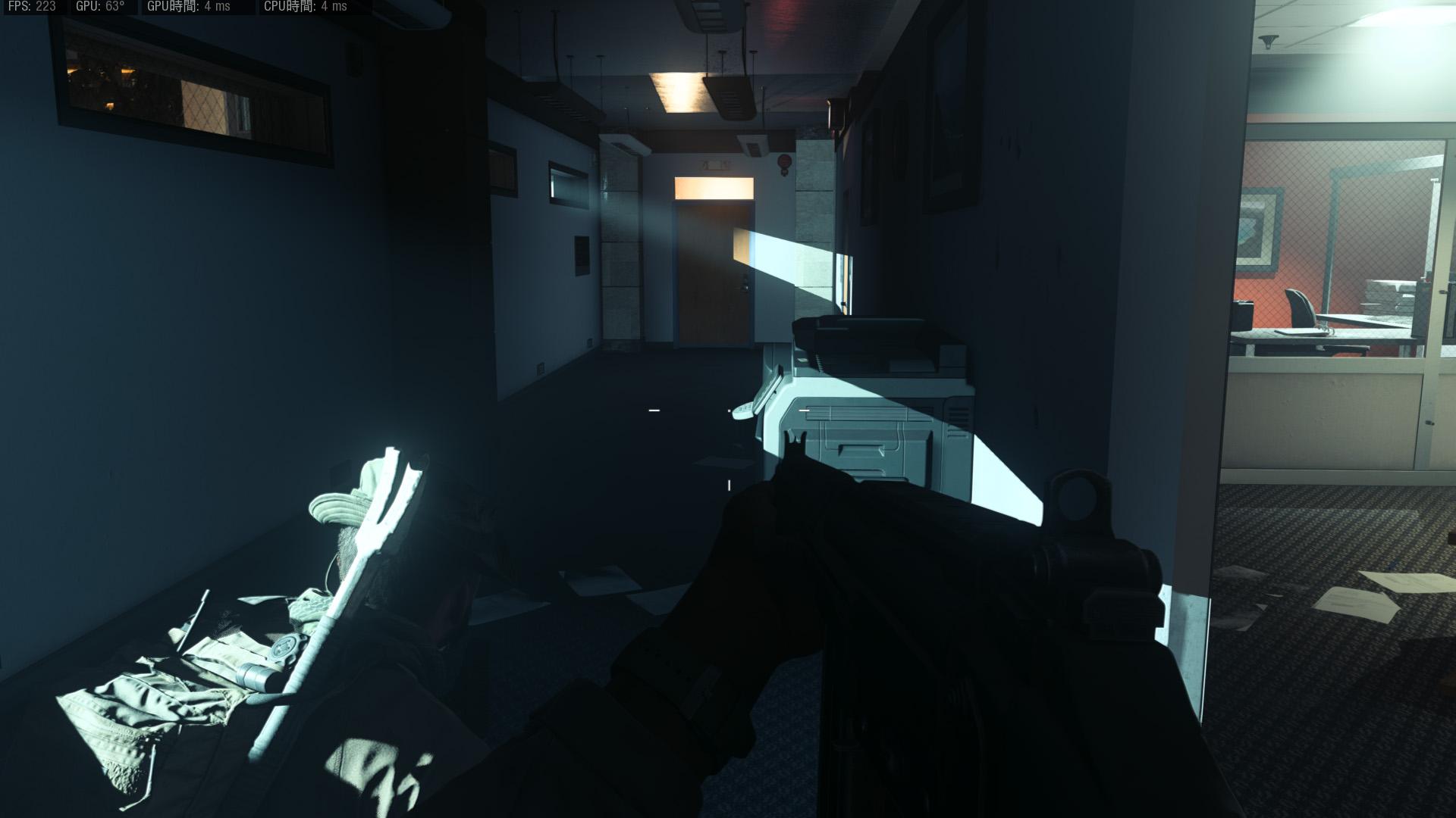 DXRがOFF(デフォルト)の状態では影の輪郭はパキッとシャープ<br>(C)2019 Activision Publishing, Inc.