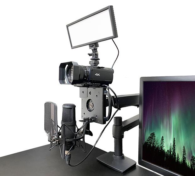 NB-MV001MHにカメラなどを搭載した様子