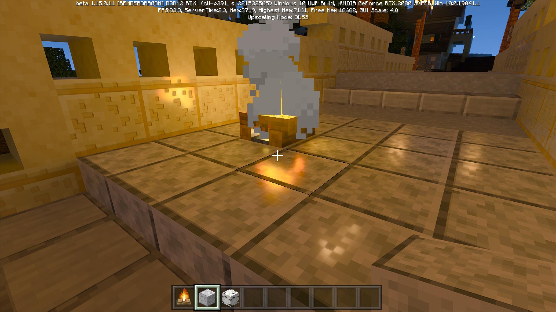 光の映り込みや反射がリアルに表現されるようになる。床に映り込んだたき火はリアルにゆらめく