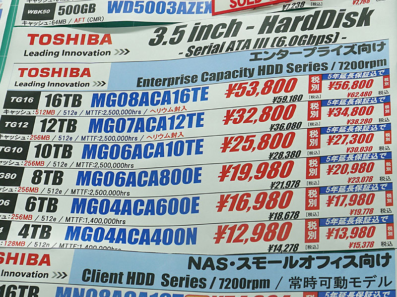 販売価格は税抜き53,800円(税込59,180円)