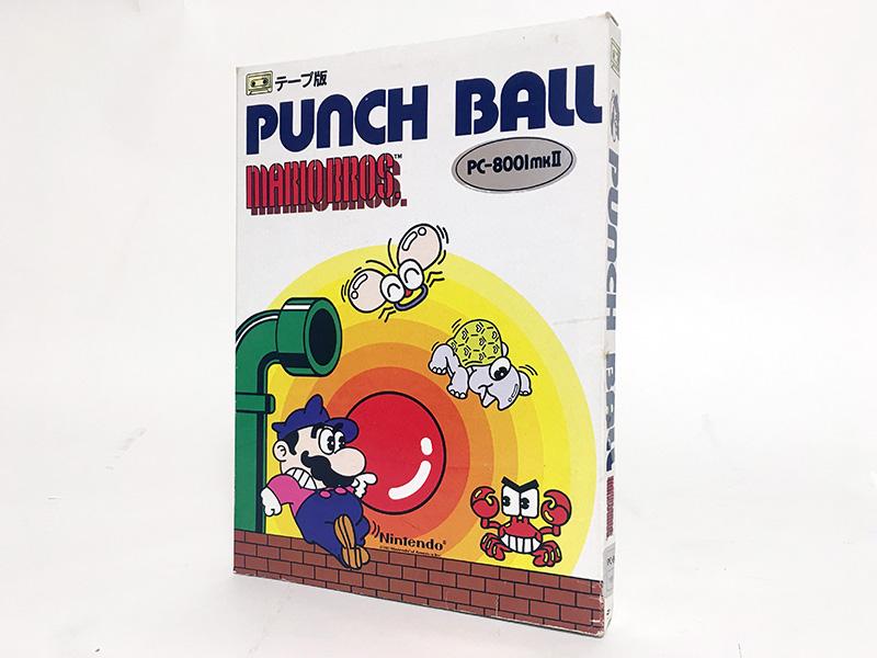 パッケージにはパンチボールを持つマリオの他、お馴染みの敵キャラクターたちが描かれています。こちらは大きめの紙パッケージですが、『マリオブラザーズスペシャル』は一回り小さいプラスチックのパッケージでした。