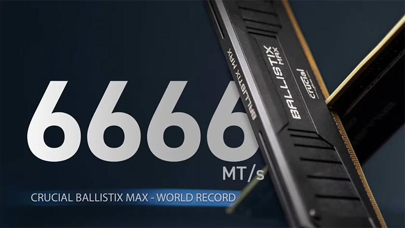 ゲーミングメモリ「Ballistix MAX」で6,666MT/sの世界最速オーバークロック記録を達成!