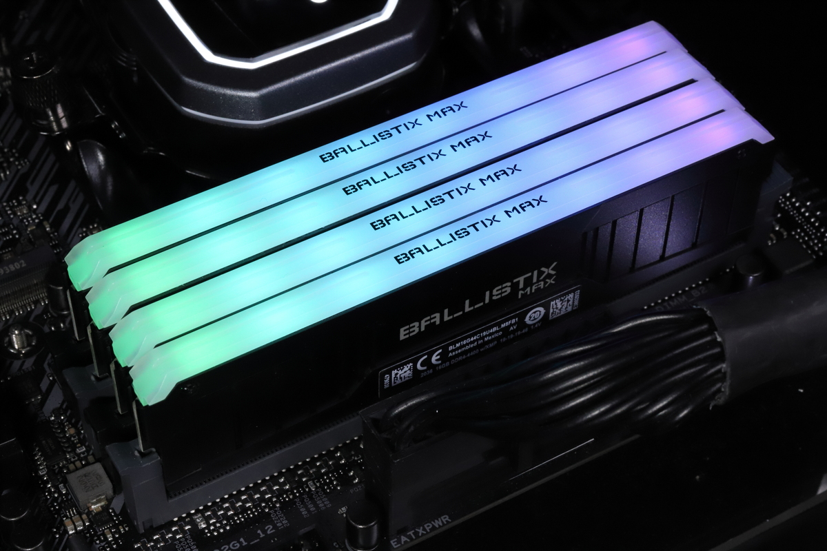 DDR4-4400メモリの4枚挿しにチャレンジ。