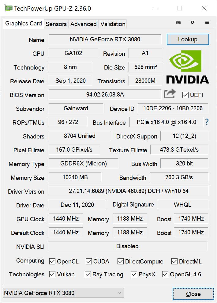 GPU-Zの画面