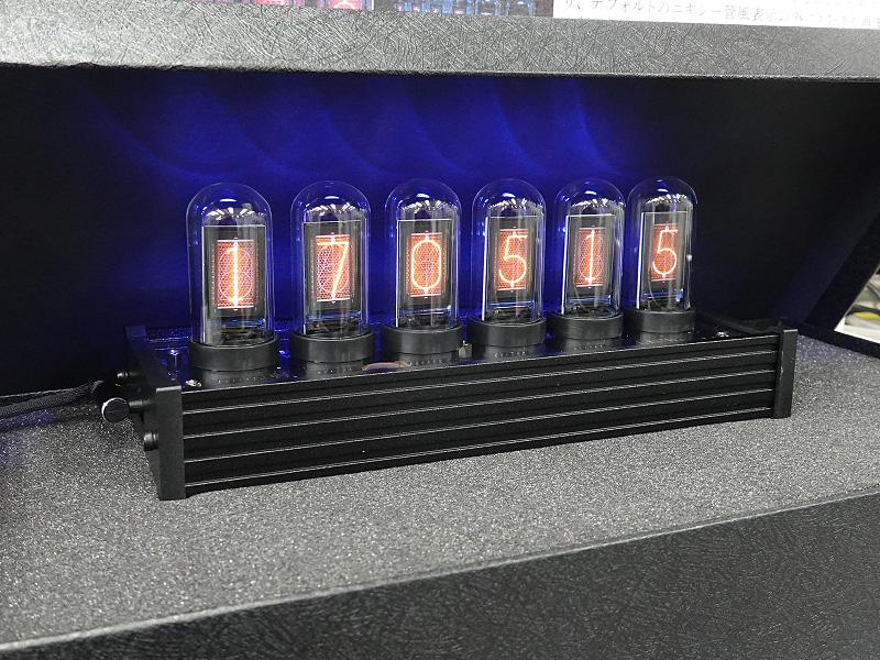 画像アップロード対応・LCDパネル表示 ニキシー管風デジタルクロック(DN-916006)
