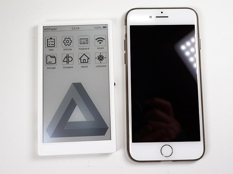 iPhone 8との大きさ比較