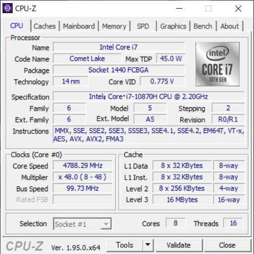 「CPU-Z」で搭載されたCPUの情報を拾ってみた