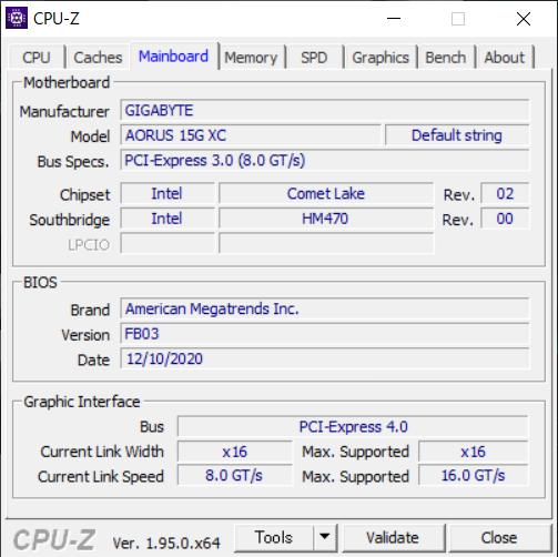 検証機のBIOSは「FB03」だが、実際の製品では変わっている可能性もある。GPU側のインターフェースはPCI Express Gen4に対しCPU側は3.0だが、性能的なデメリットはない