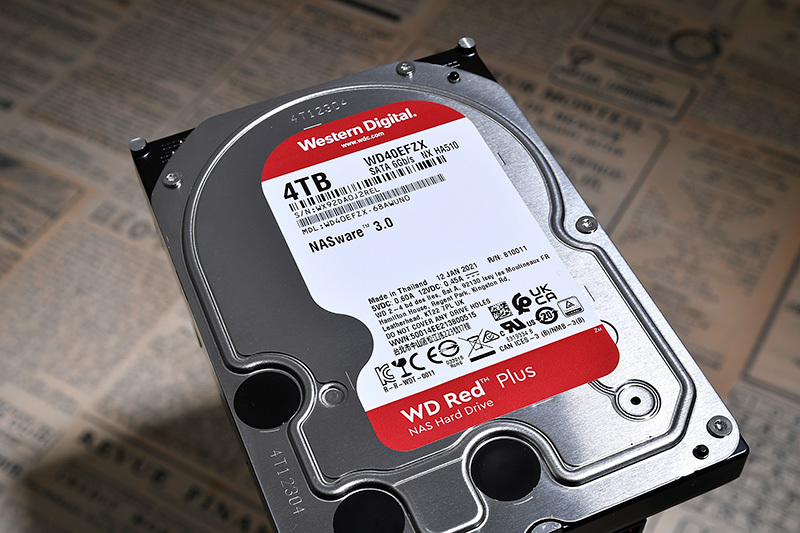 CMR方式を採用したNAS向けHDD「WD Red Plus」