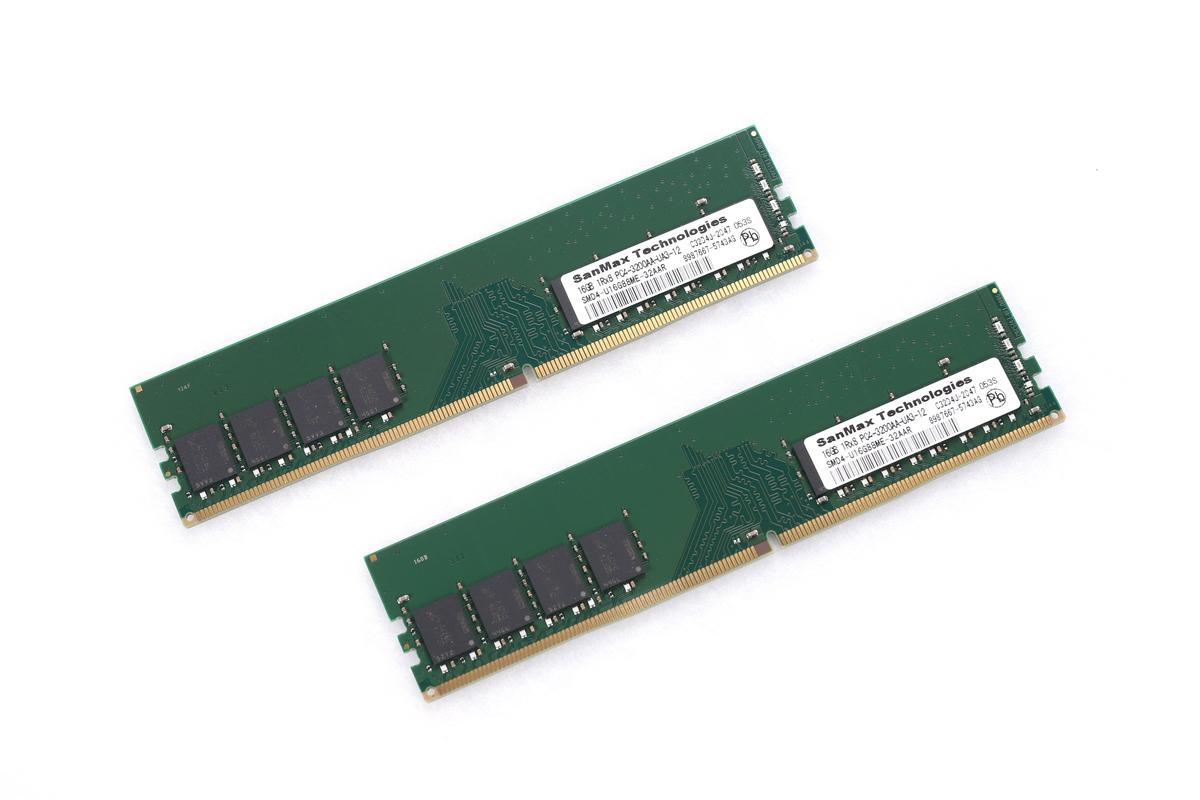 16GBメモリ×2枚で、合計32GBの容量を実現。