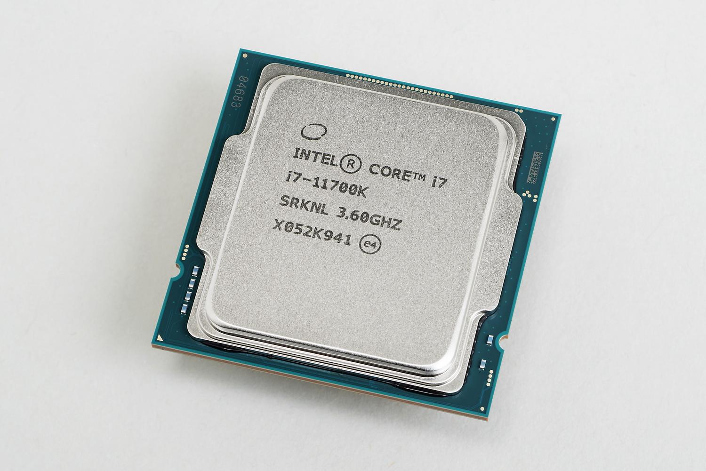 今回のテストで使用した「Intel Core i7-11700K」。実売価格は5万6,000円前後。