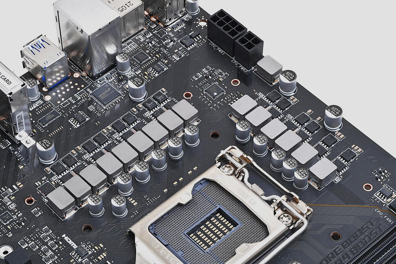 12+2+1フェーズの電源回路。CPU専用が12フェーズ