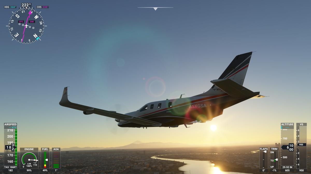 Microsoft Flight Simulator。