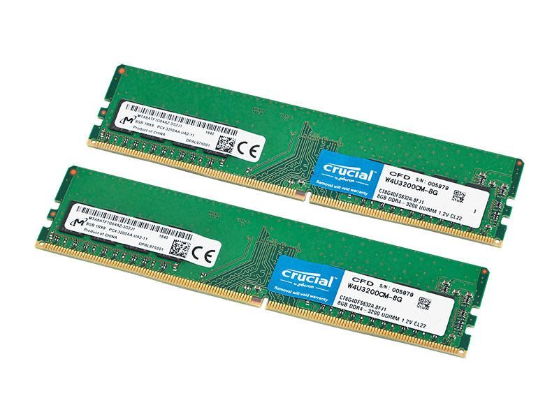 "<span class=""fnt-dummy larger-xx"">CFD販売 W4U3200CM-8G</span><br>PC4-25600 DDR4 SDRAM 8GB×2枚"
