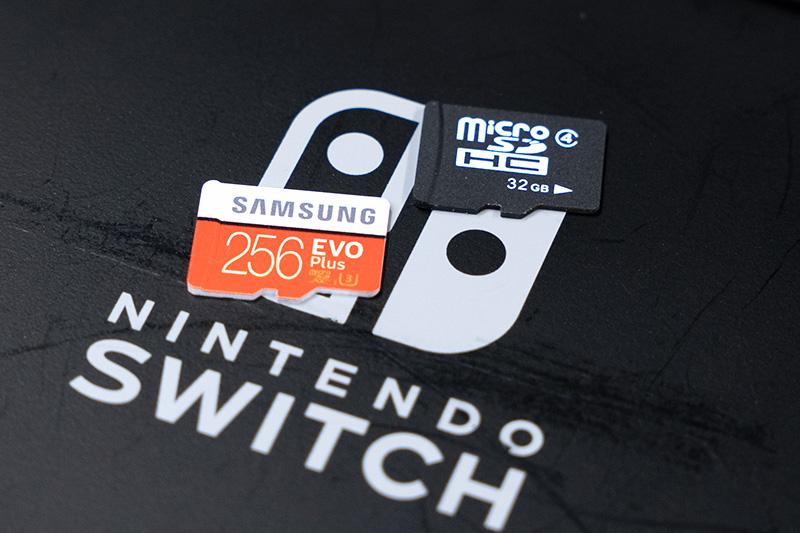 内蔵eMMCとmicroSDカード2枚で比較
