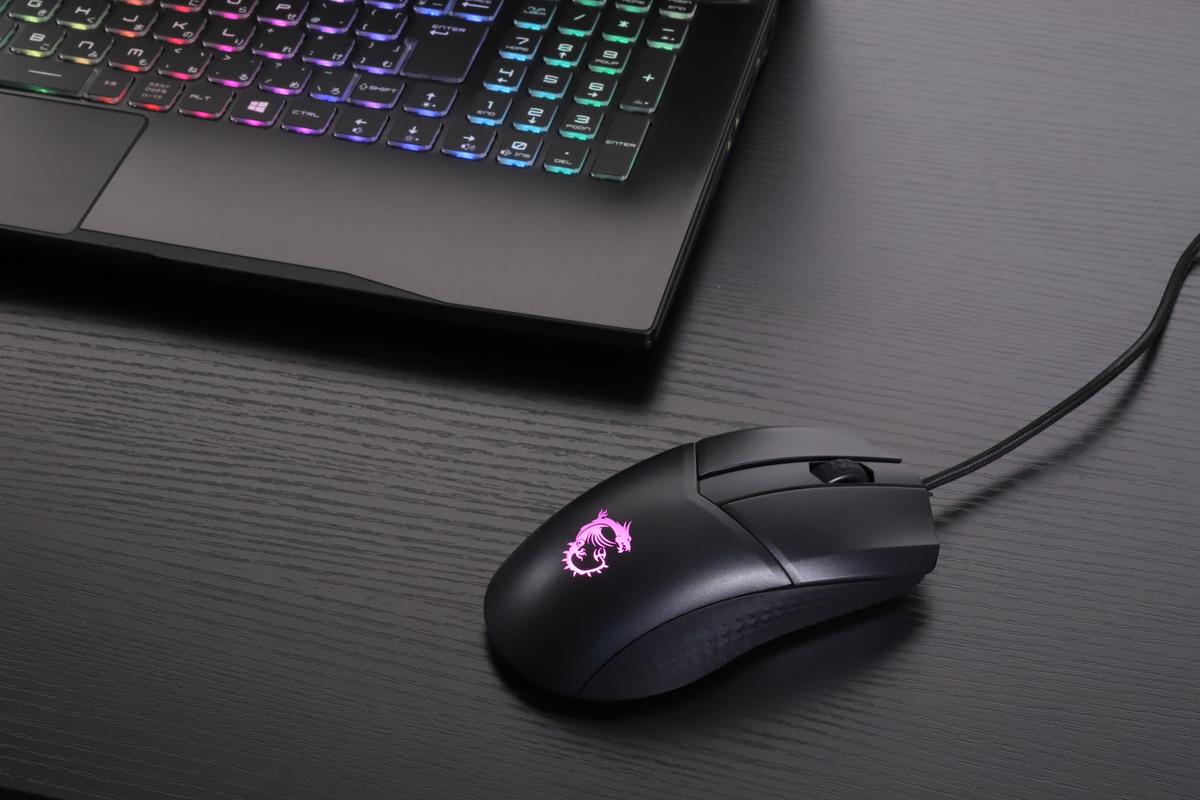 ゲーミングマウス「MSI CLUTCH GM41 LIGHTWEIGHT」。