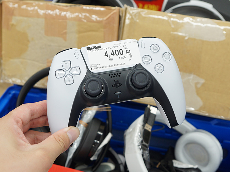 PS5用ワイヤレスコントローラーやワイヤレスヘッドホンなども販売中