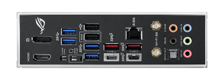 標準で無線LANアンテナが付属。背面インターフェースも充実している