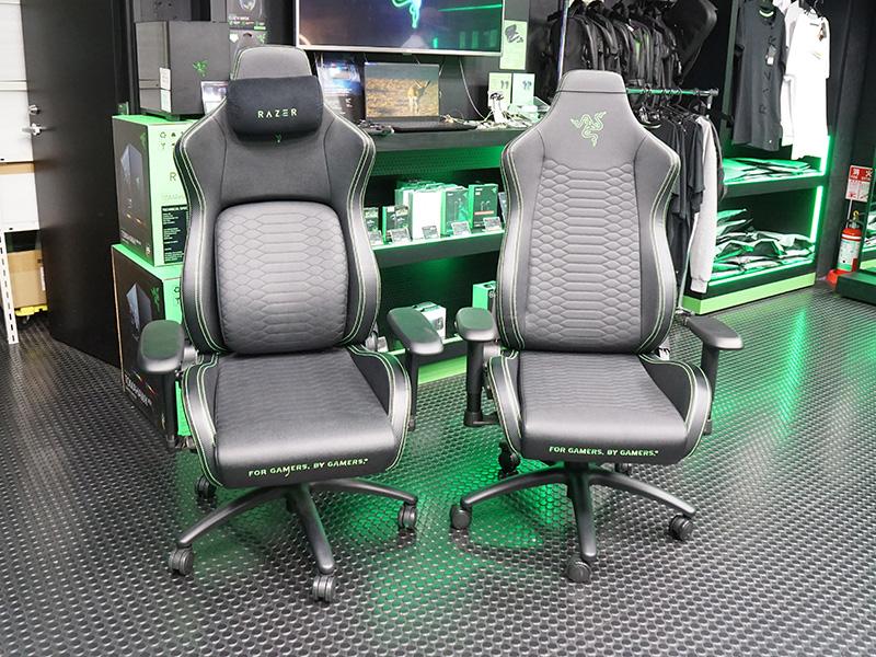 左が「Razer Iskur」、右が「Razer Iskur X」