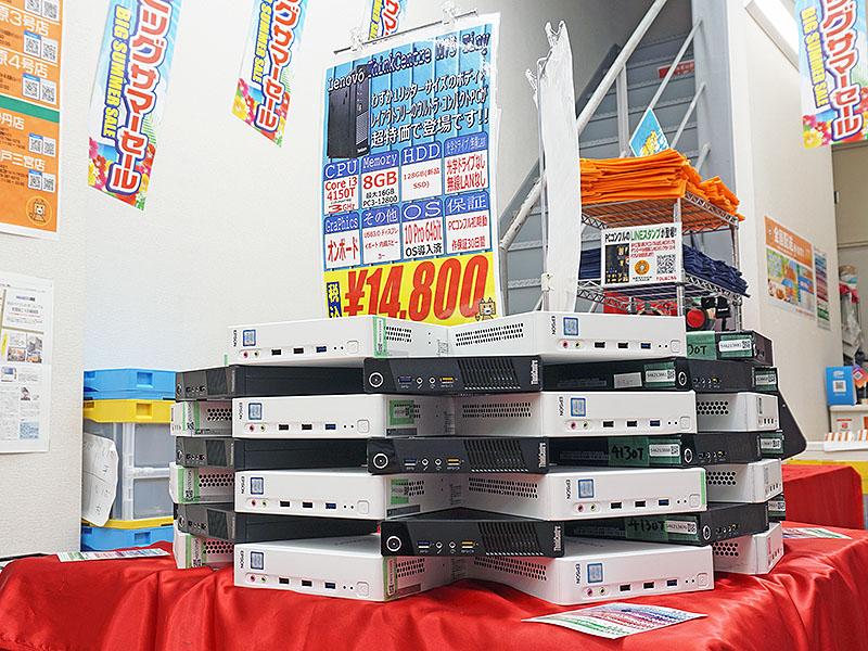 片手で持てるサイズの中古品PCがPCコンフル 秋葉原3号店で大量販売中