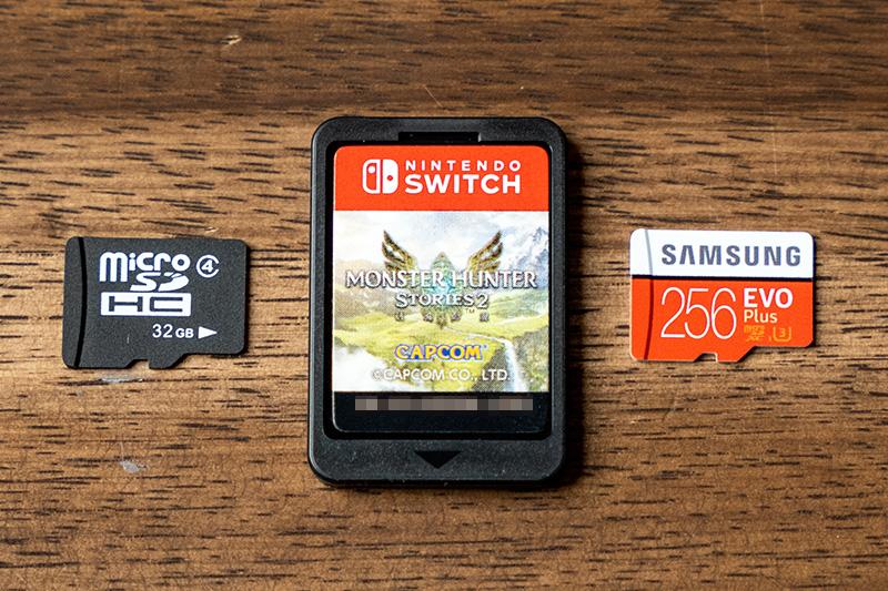 Switch本体の内蔵eMMCとmicroSD×2種をカートリッジ版と比較してみた。
