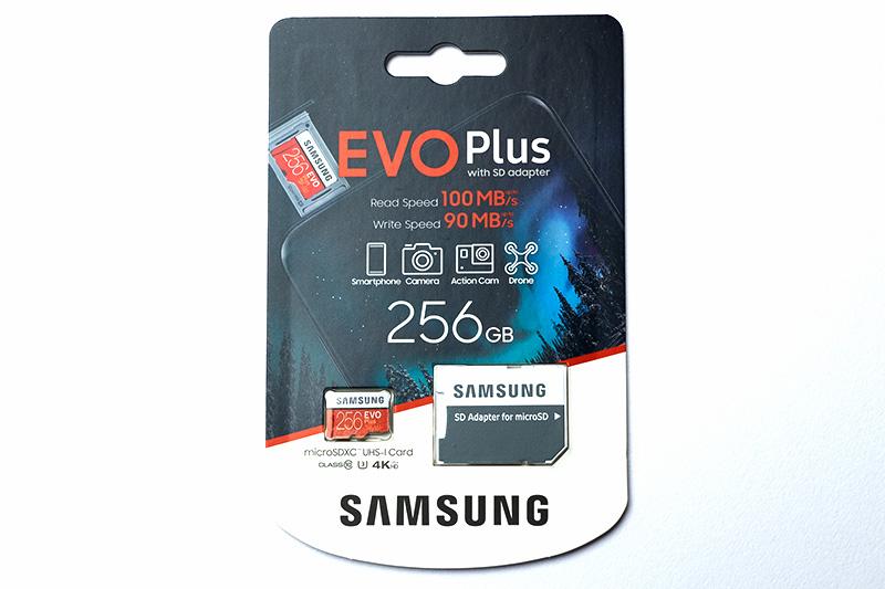 今回用意したSamsung microSD EVO Plus 256GB