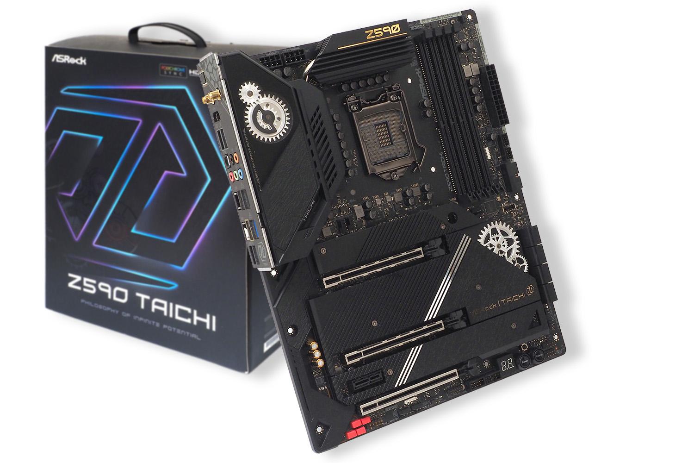 ASRock「Z590 Taichi」。実売価格は50,000円前後