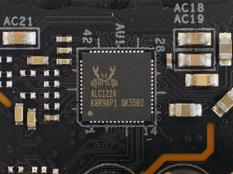 Realtek ALC1220にESS ES9218やWIMAコンデンサを加えている