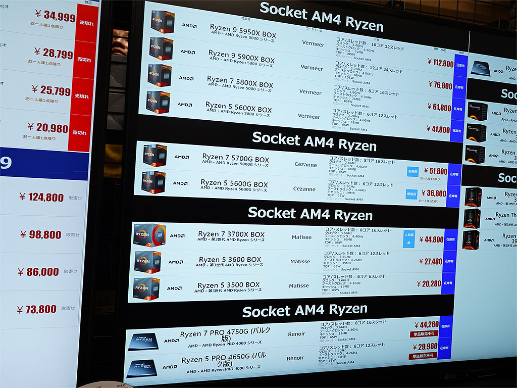 AMD CPUはRyzen 5 3500が品薄に
