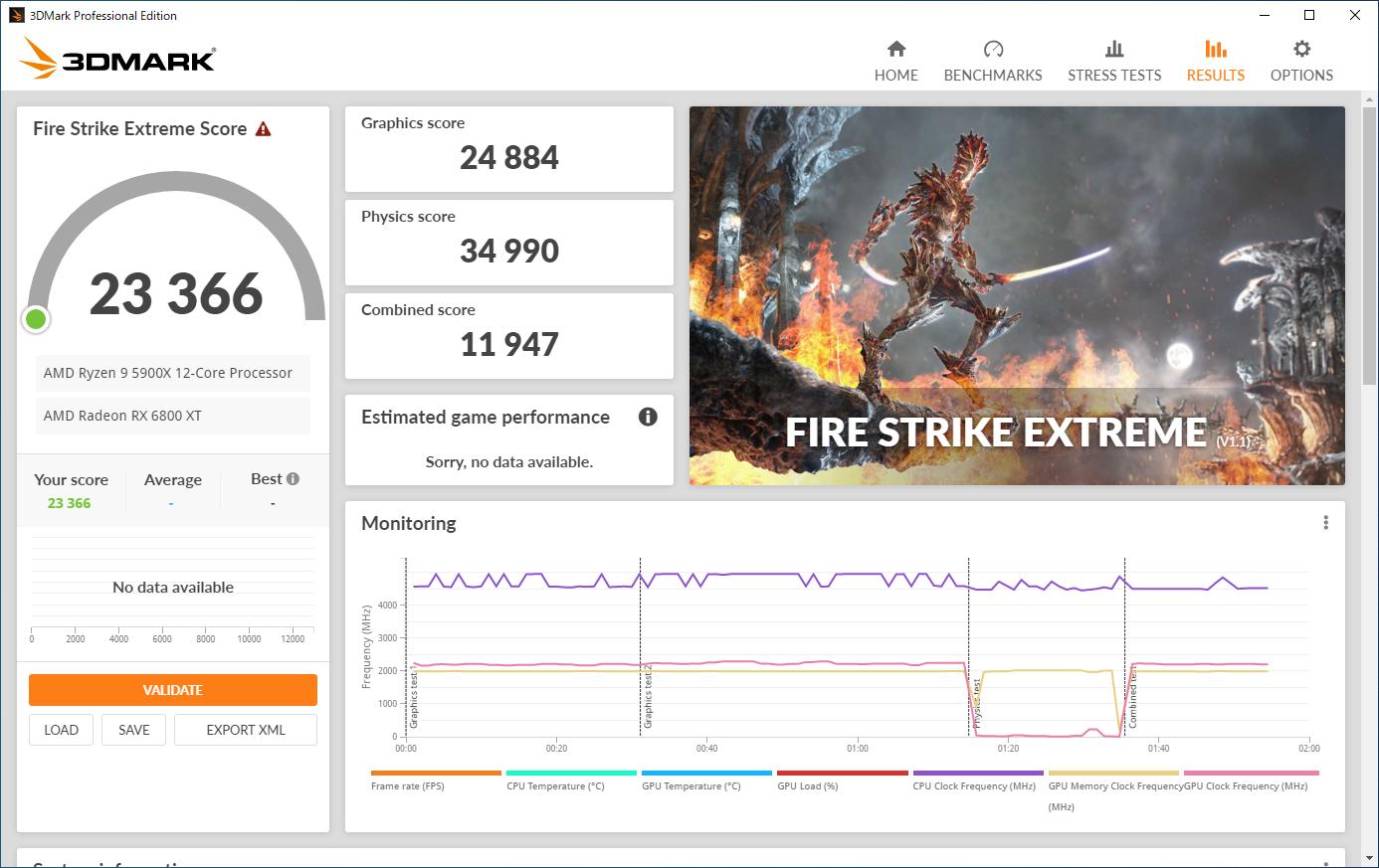 3DMarkの計測結果。左からFire Strike(DirectX 11、フルHD)、Fire Strike Extreme(DirectX 11、WQHD)、Time Spy(DirectX 12、フルHD)のスコア画面