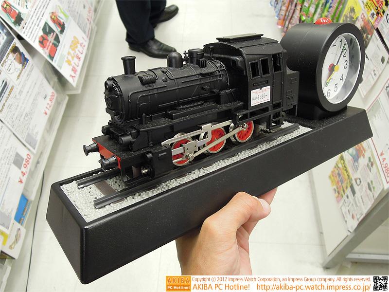 蒸気機関車の模型部。