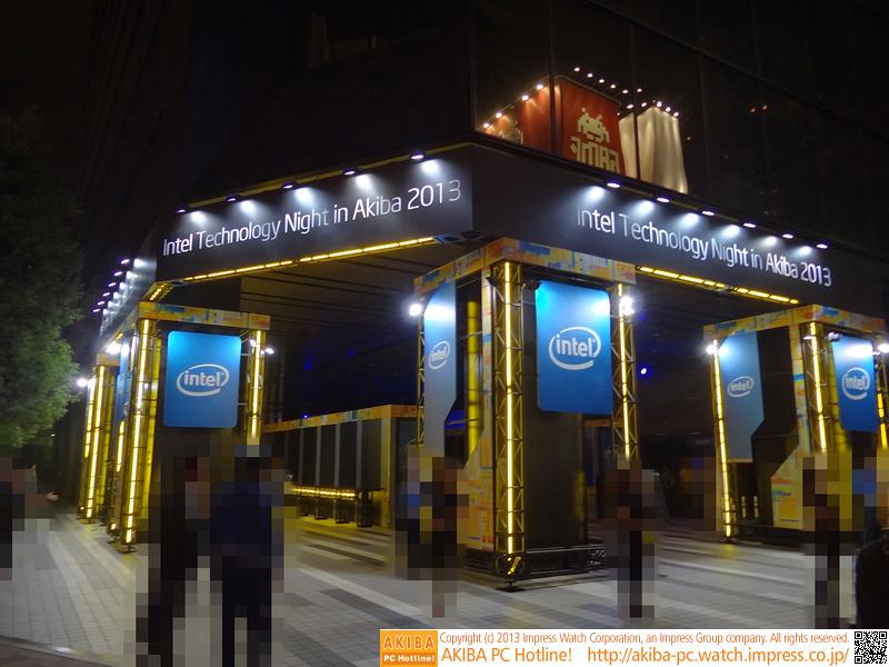 Intelはベルサール秋葉原でプロジェクションマッピングのイベントを実施
