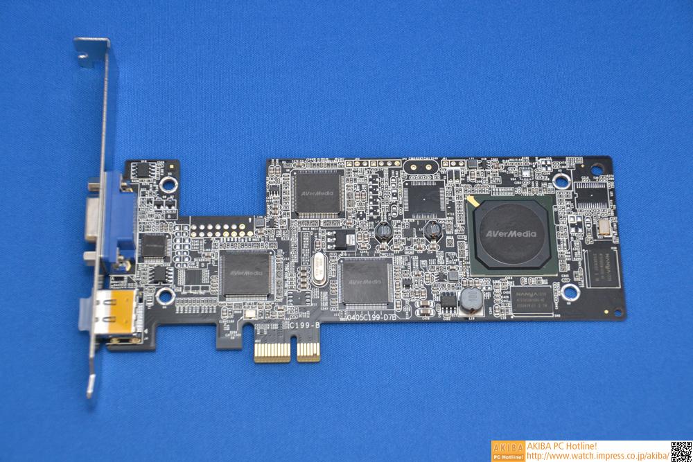 接続インターフェイスはPCI Express x1。入力インターフェイスとしてはHDMI、コンポーネント、VGA(D-Sub15ピン)に対応する。VGA入力に対応するのが実はポイントだ