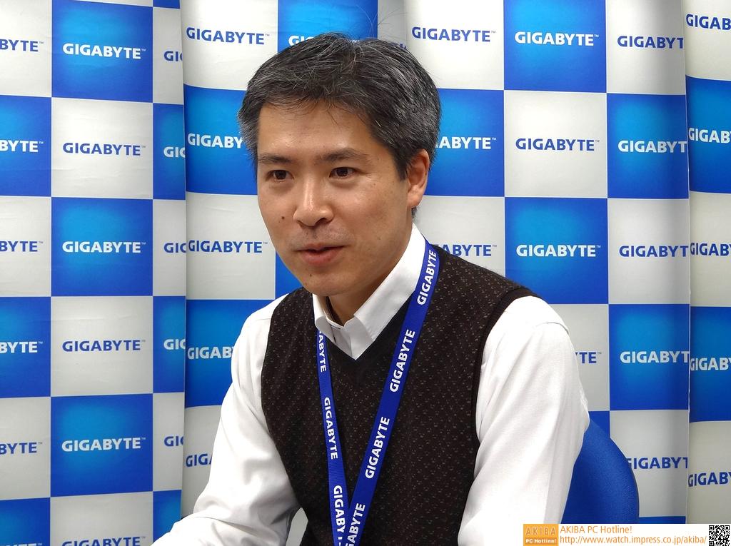 日本ギガバイト ディレクター 中村 広志氏