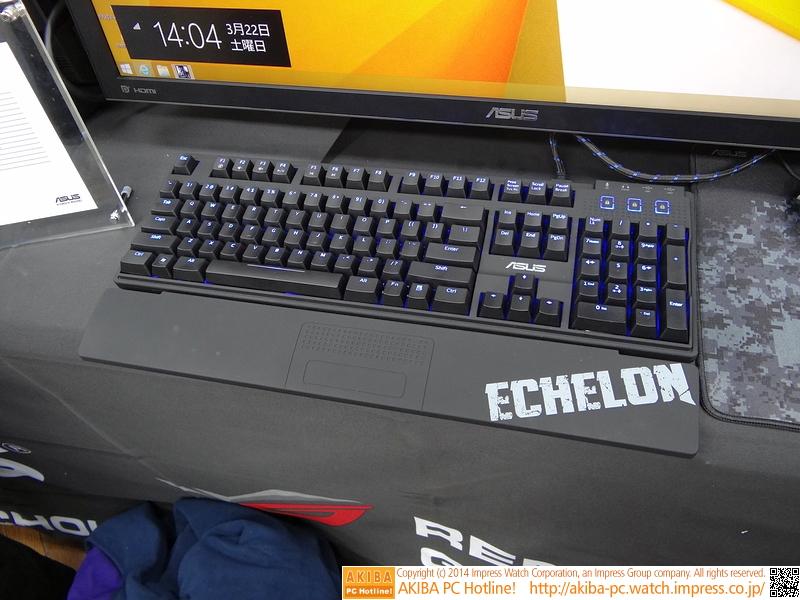 新たに立ち上げるゲーミングデバイスブランド「ECHELON」に属するゲーミングキーボード。黒軸採用品で、まずは英語配列品からの発売となる
