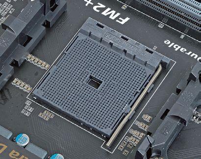 "【Socket FM2+】<br class="""">AMDの主力ソケット。先代のSocket FM2と互換性があり、FM2のCPUも使えるが、FM2+ の新機能はFM2+対応同士の組み合わせでしか使えない"
