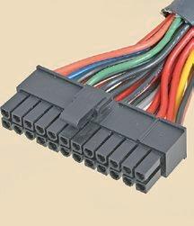 """【ATX20/24ピン】<br class="""""""">マザーボードに接続するメイン電源のコネクタ。当初は20ピンであり後から24ピンへと拡張されたため、20ピンと4ピンに分かれている場合もある"""