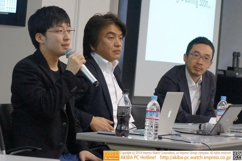 第3部の講演を行ったRepRap Japan Community代表の加藤大直氏(左)、一般社団法人3Dデータを活用する会・3D-GAN理事長の相馬達也氏(中央)、ビークル株式会社執行役員の片岡豪太氏(右)