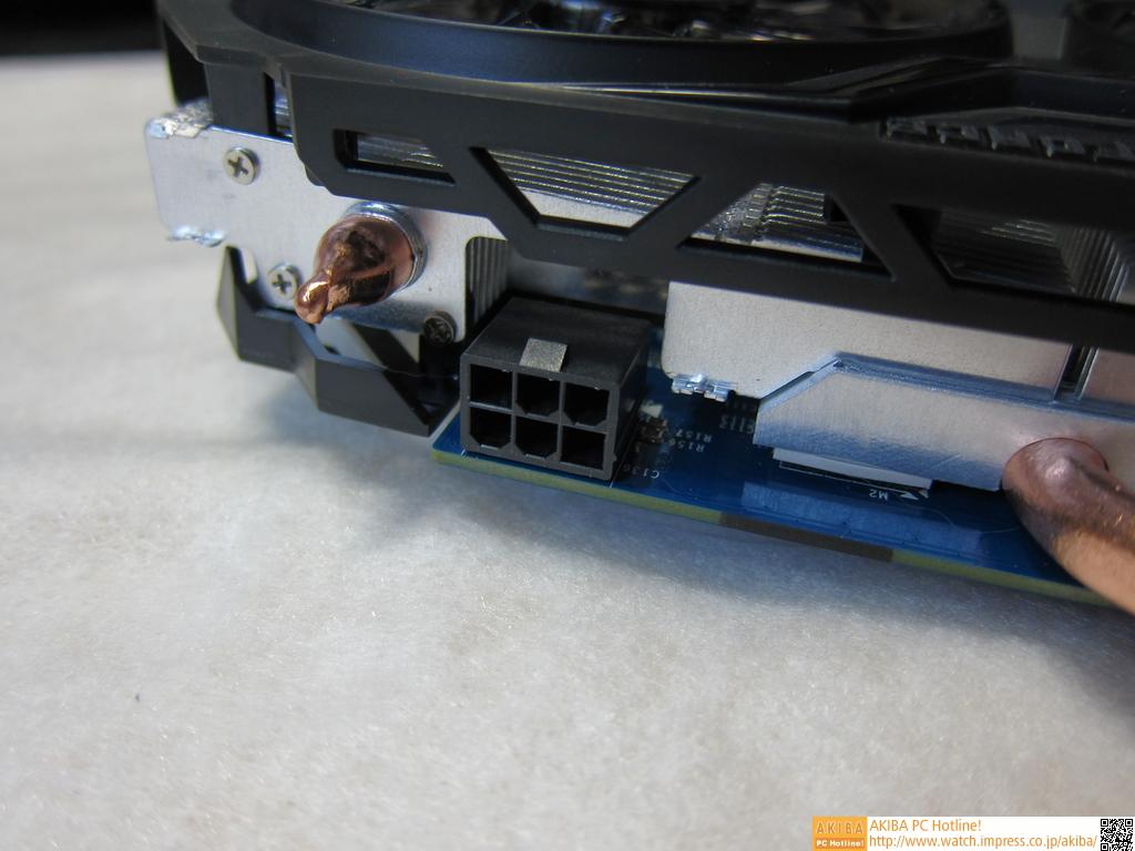 OCモデルということもあり、補助電源コネクタとして6PINを1基搭載。
