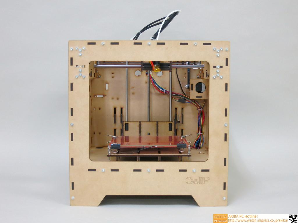 CellP 3Dプリンター。フレームにMDFを採用していることが特徴だ