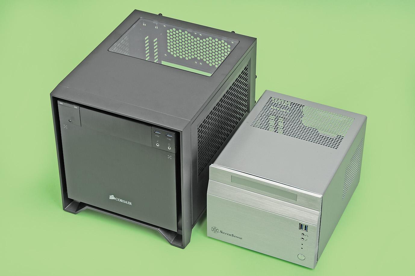 Mini-ITXマザーボードのサイズは規定されているが、対応ケースのサイズは自由だ。逆説的だが、サイズにこだわり過ぎないのが小型PC自作を楽しむ秘訣だ
