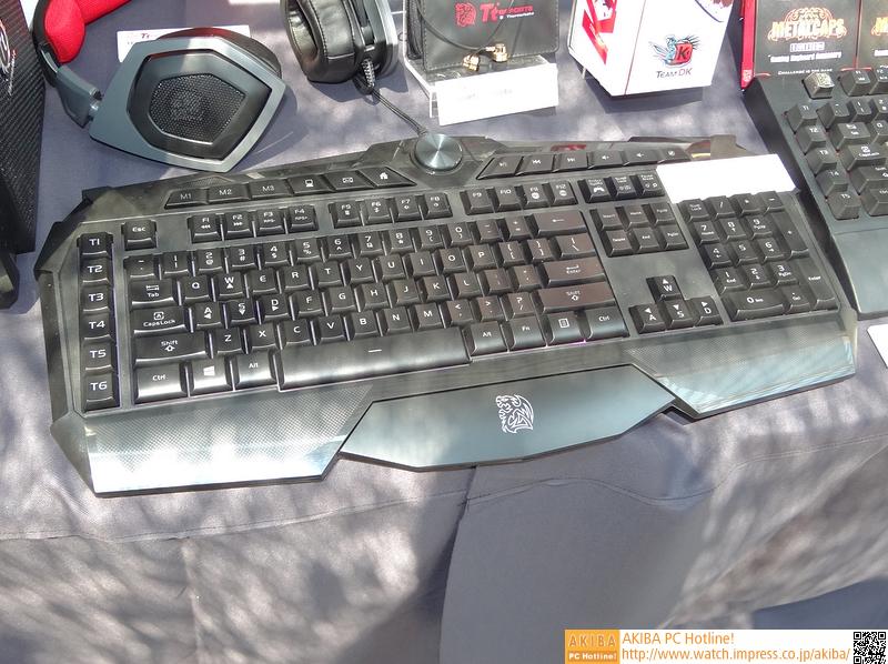 予価3,980円、しかもマクロキー付き、という格安ゲーミングキーボード「Challenger Prime Keyboard」。展示されていたのは英語版だが、日本語配列での発売予定