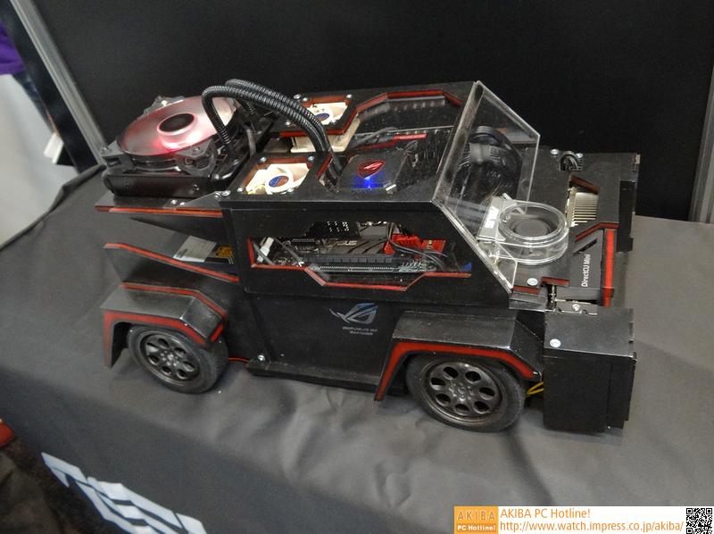 COMPUTEXでも展示されていたMOD PC。車を模したものだが、→と違って自走しない。