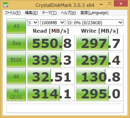 ※ASP610SS3-256GM-Cを使用