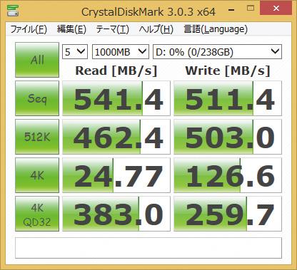 ※CSSD-S6T256NHG6Qを使用