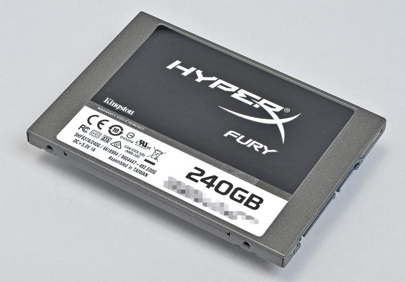 Kingston Technology HyperX FURY SSD<br>容量を絞り安価にしたゲーマー向け