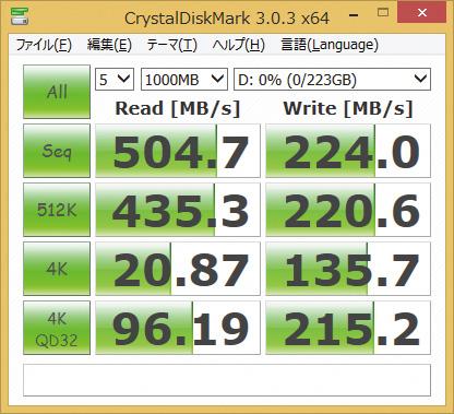※SHFS37A/240Gを使用