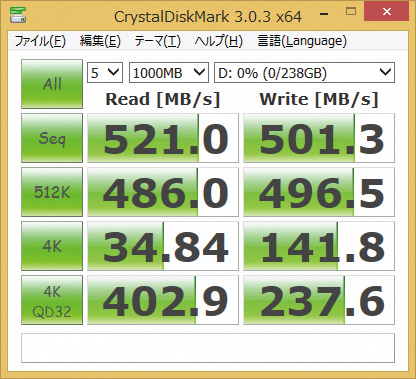 ※CT256M550SSD1を使用